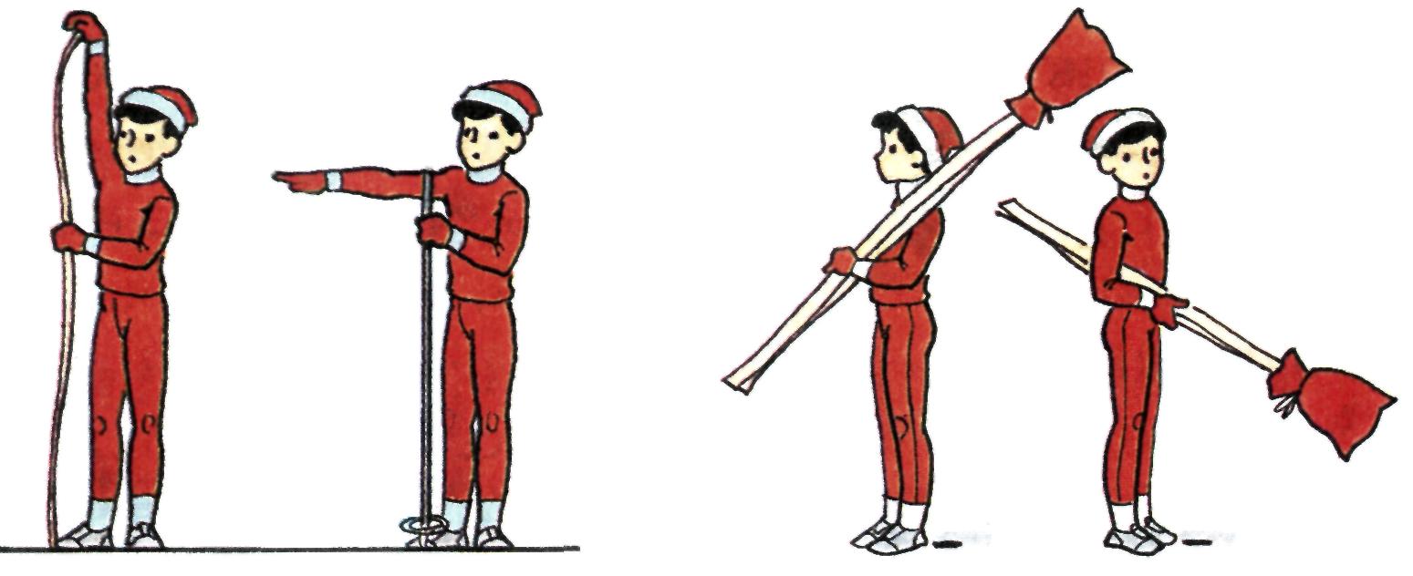 Как подобрать лыжи и палки по росту.