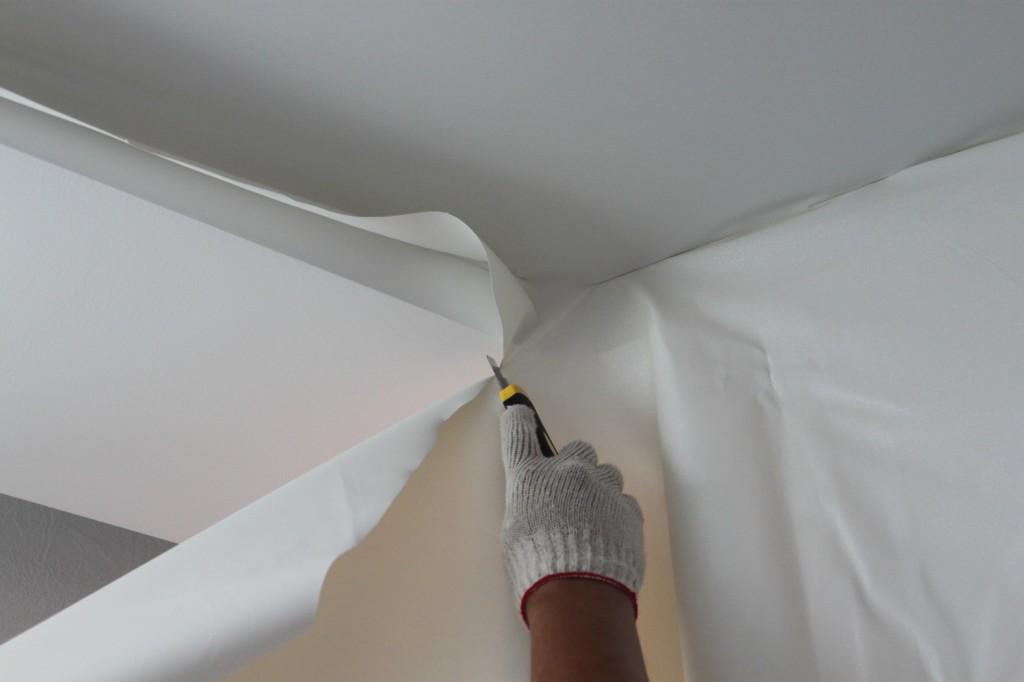 Монтаж тканевого потолка CLIPSO