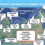 Сколько морей омывает Россию?