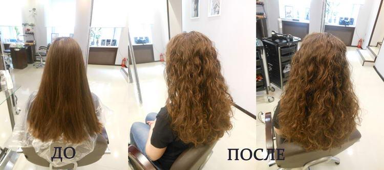 Биозавивка волос: до и после
