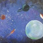 Как нарисовать космос?
