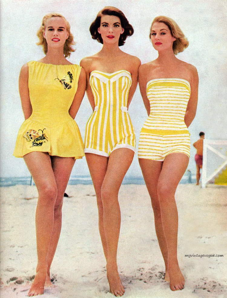 купальники в стиле 50-60-х годов