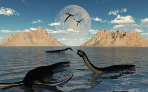 Группа отдыхающих Плезиозавров. Getty/Mark Stevenson/Stocktrek Images