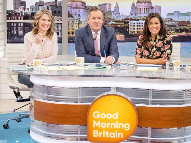 Пирс Морган (на фото с Шарлоттой Хокинс и Сюзанной Рид) отреагировал на победу Уотсон на «Доброе утро Британия».